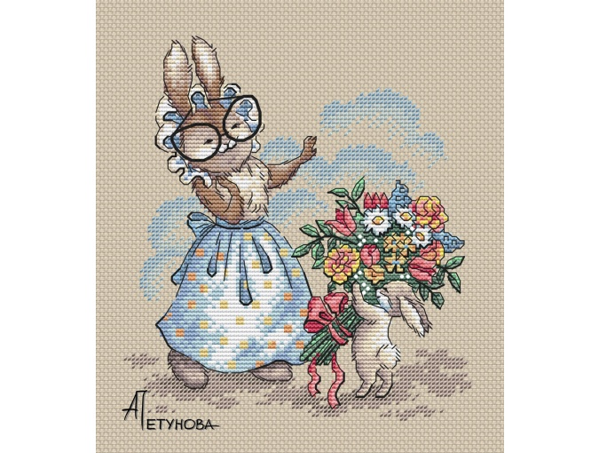 Flowers for Grandmother Cross Stitch Pattern фото 1