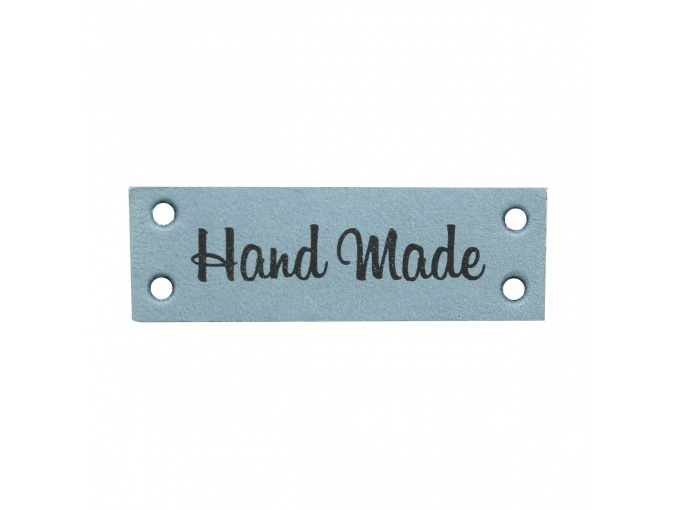 "Leather Sewing Label ""Hand Made"", 4pcs фото 3"