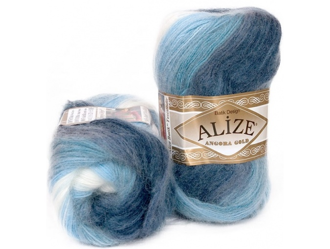 Alize Angora Gold Batik, 10% mohair, 10% wool, 80% acrylic 5 Skein Value Pack, 500g фото 7