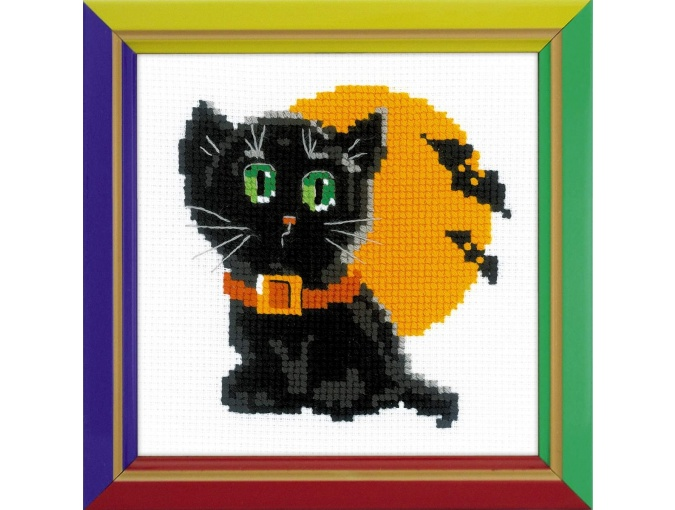 Black Cat Cross Stitch Kit фото 1