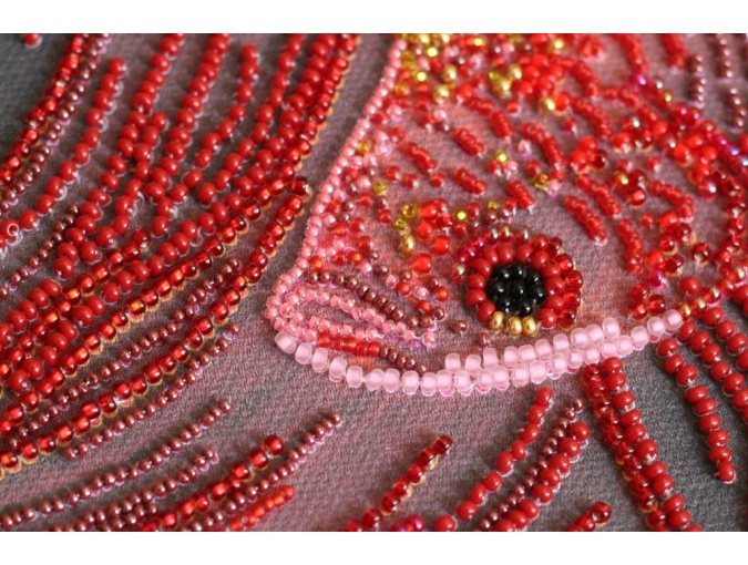 Red Gold Bead Embroidery Kit фото 5