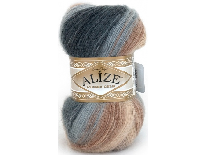 Alize Angora Gold Batik, 10% mohair, 10% wool, 80% acrylic 5 Skein Value Pack, 500g фото 19