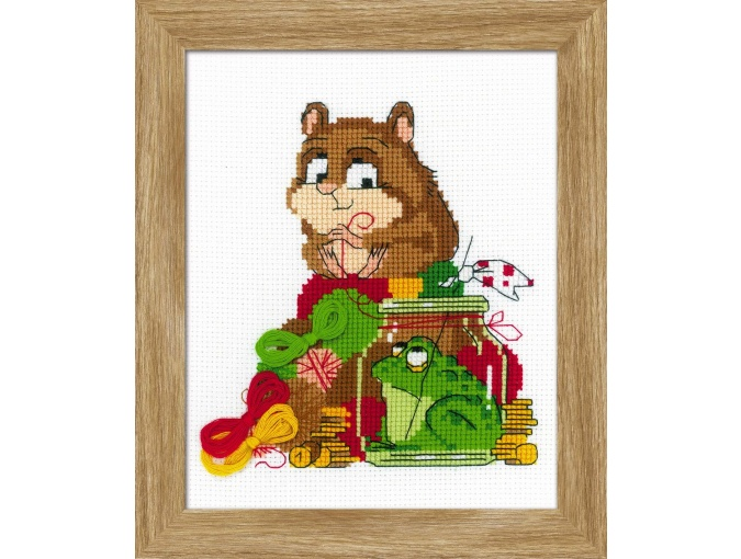 Hamster and Toad Cross Stitch Kit фото 1