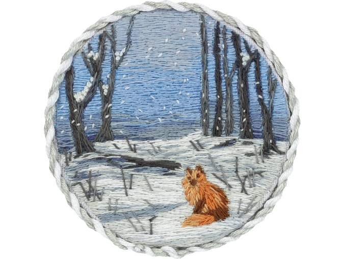 Winter Forest Brooch Embroidery Kit фото 1