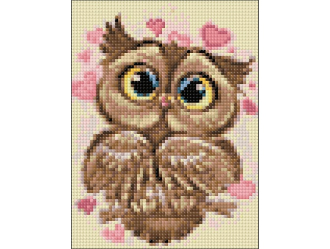 Owl in Love Diamond Painting Kit фото 2