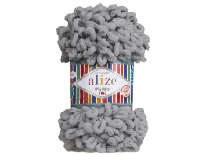 Alize Puffy Fine, 100% Micropolyester 5 Skein Value Pack, 500g фото 23