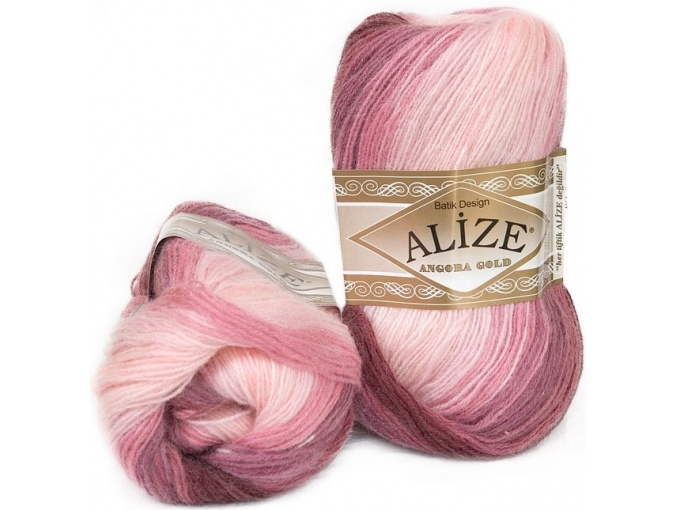 Alize Angora Gold Batik, 10% mohair, 10% wool, 80% acrylic 5 Skein Value Pack, 500g фото 6