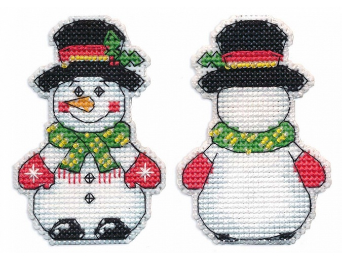 Christmas Tree Toys. Snowman Cross Stitch Kit фото 1