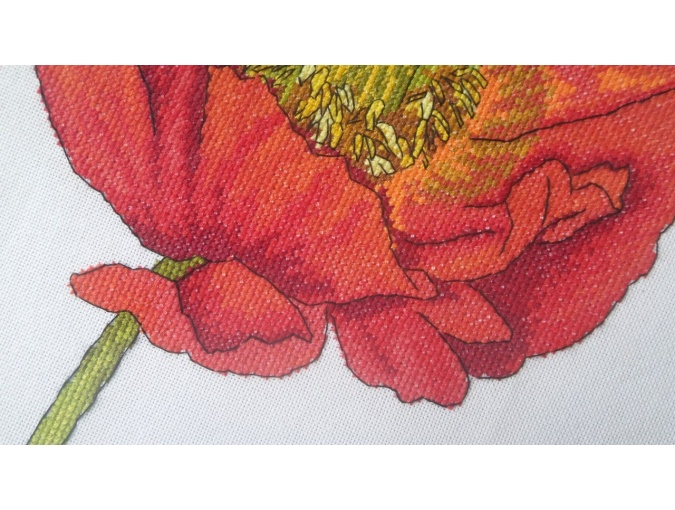 Bright Poppy Cross Stitch Pattern фото 6
