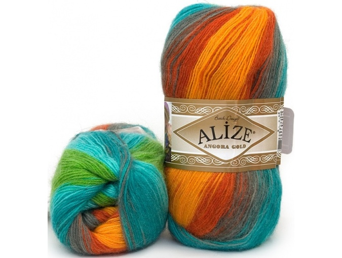 Alize Angora Gold Batik, 10% mohair, 10% wool, 80% acrylic 5 Skein Value Pack, 500g фото 42