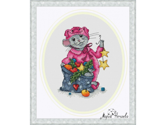 Piggy Jammies Cross Stitch Pattern фото 1