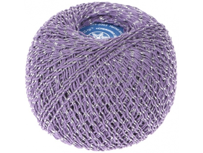 Kirova Fibers Sparkling Snowflake, 86% cotton, 14% lurex, 20 Skein Value Pack, 500g фото 5