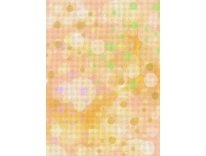 18 Count Aida Designer Fabric by MP Studia Bubbles on Orange фото 1