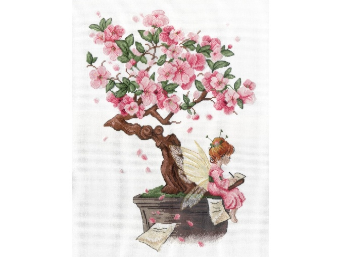 Under a Cherry Blossom Cloud Cross Stitch Kit фото 1
