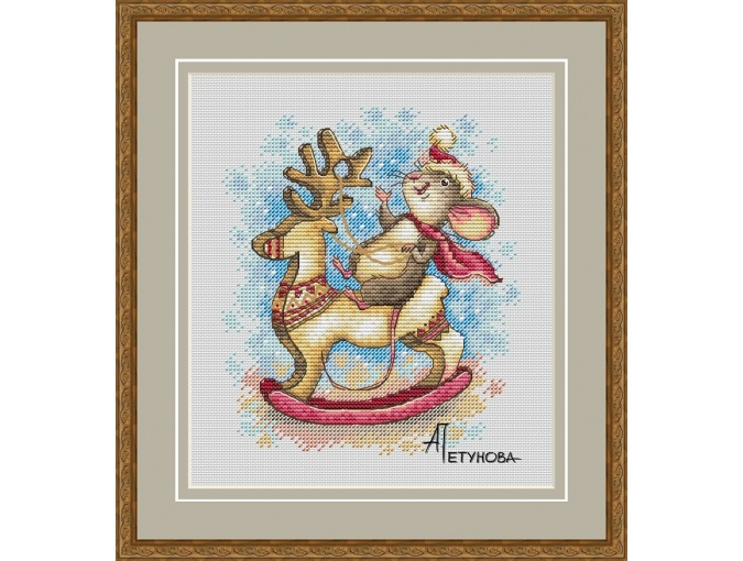 Riding Deer! Cross Stitch Pattern фото 1