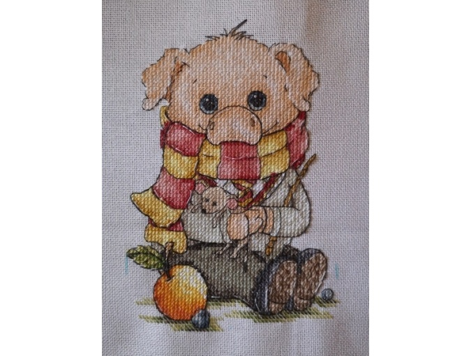 Pigsley Cross Stitch Pattern фото 2