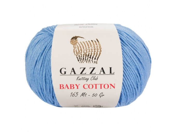 Gazzal Baby Cotton, 60% Cotton, 40% Acrylic 10 Skein Value Pack, 500g фото 28