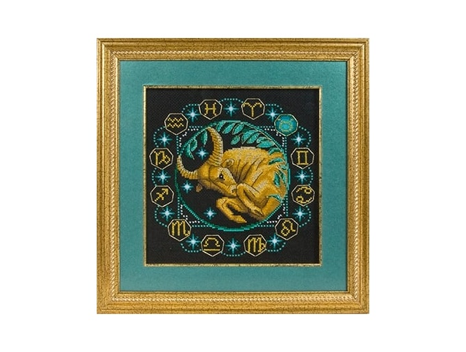 Zodiac signs. Taurus Cross Stitch Kit фото 2