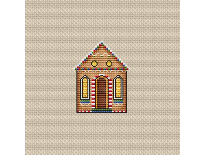 Christmas Gingerbread House Cross Stitch Pattern фото 1