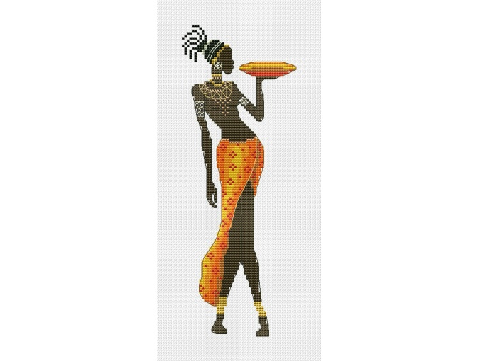 African Girl 3 Cross Stitch Pattern фото 1