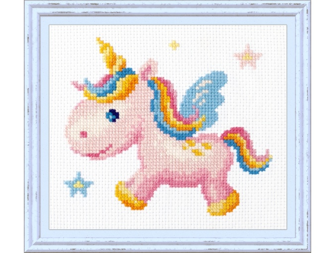 Rainbow Unicorn Cross Stitch Kit фото 1