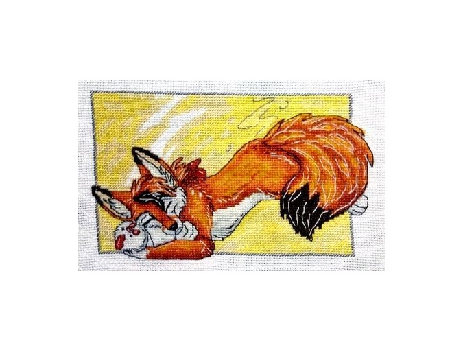 Fox with a Chicken Cross Stitch Pattern фото 2