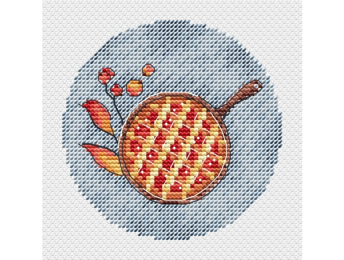 Autumn Miniatures. Pie Cross Stitch Pattern фото 2