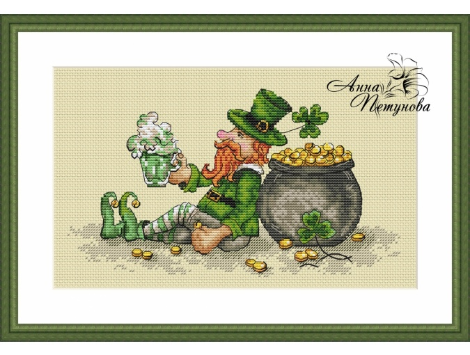 Saint Patrick's Day Cross Stitch Pattern фото 1