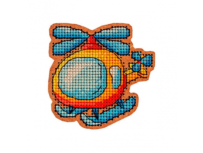 Helicopter Original Toy Cross Stitch Kit фото 1