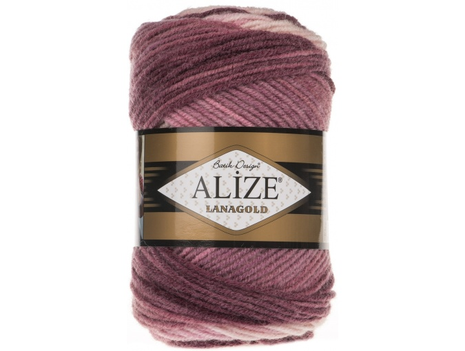 Alize Lanagold Batik 49% Wool, 51% Acrylic, 5 Skein Value Pack, 500g фото 7