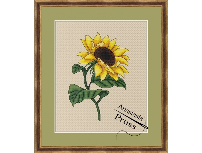 Sunflower Cross Stitch Chart фото 1