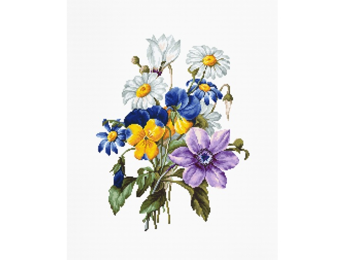 Bouquet of Flowers Cross Stitch Kit фото 1