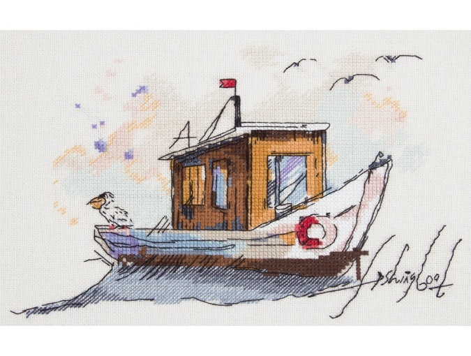 Fishing Boat Cross Stitch Kit фото 1
