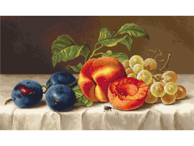 Still Life with Plums Cross Stitch Kit фото 1