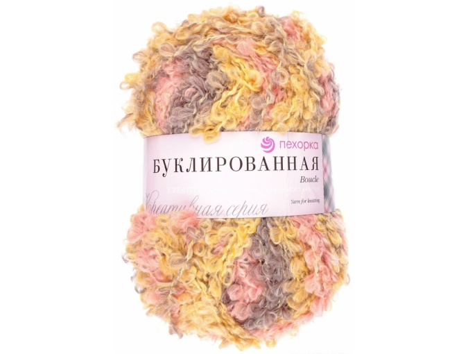 Pekhorka Boucle, 30% Mohair, 20% Wool, 50% Acrylic, 5 Skein Value Pack, 1000g фото 25