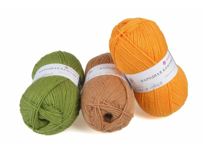 Pekhorka Folk Classics, 30% Wool, 70% Acrylic 5 Skein Value Pack, 500g фото 1