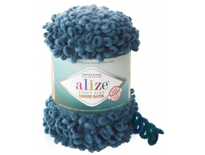 Alize Puffy Fine Ombre Batik, 100% Micropolyester 1 Skein Value Pack, 500g фото 6
