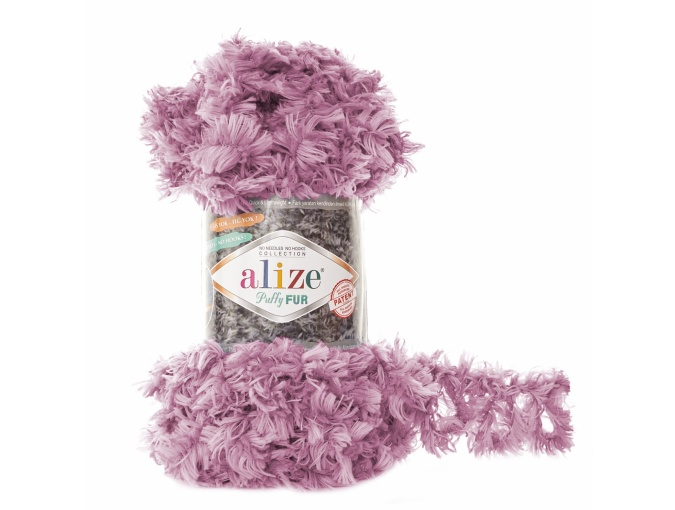 Alize Puffy Fur, 100% Polyester 5 Skein Value Pack, 500g фото 5