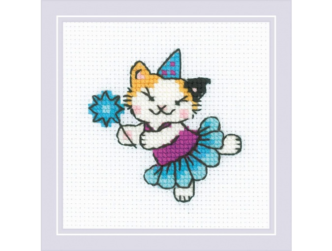 The Cat Crew. Ballerina Cross Stitch Kit фото 1