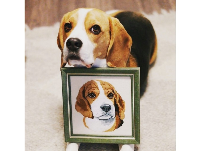 Beagle Cross Stitch Pattern фото 3