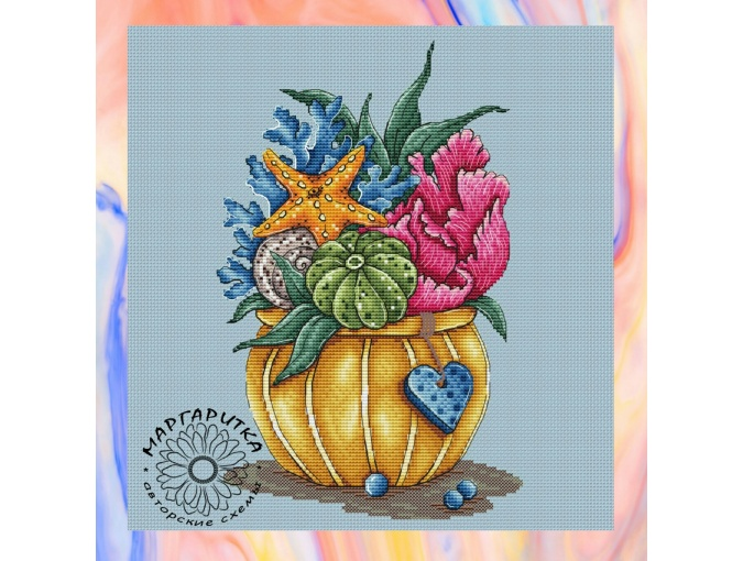 Sea Bouquet Cross Stitch Pattern фото 1