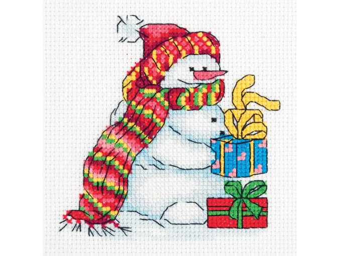 Snowman with Gifts Cross Stitch Kit фото 1