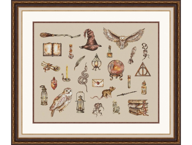 Magic Castle. Sampler Cross Stitch Pattern фото 1