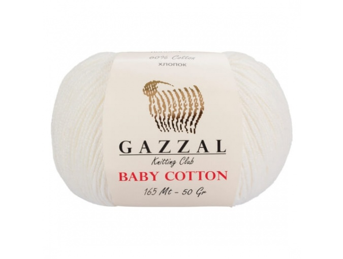 Gazzal Baby Cotton, 60% Cotton, 40% Acrylic 10 Skein Value Pack, 500g фото 2