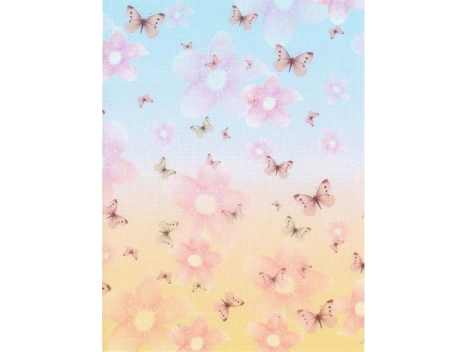 18 Count Aida Designer Fabric by MP Studia Pink Butterflies фото 1
