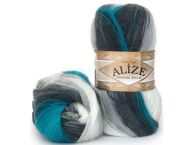 Alize Angora Gold Batik, 10% mohair, 10% wool, 80% acrylic 5 Skein Value Pack, 500g фото 22