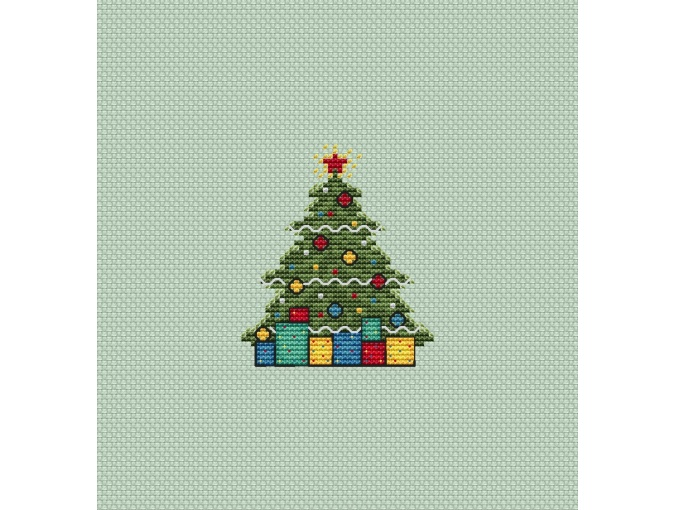 Christmas Tree Presents Cross Stitch Pattern фото 1