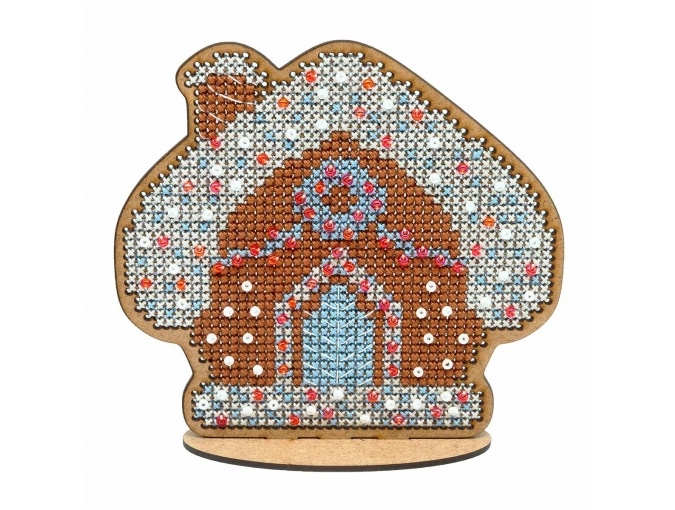 Christmas Gingerbread House Cross Stitch Kit фото 1