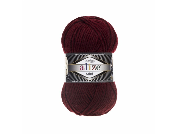 Alize Superlana Midi 25% Wool, 75% Acrylic, 5 Skein Value Pack, 500g фото 1