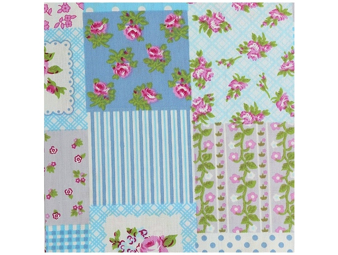 Flower Motifs Patchwork Fabric, color 13-2 фото 1